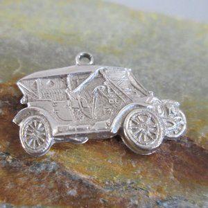 Sterling Silver Bracelet Charm 1910 STEARNS Car